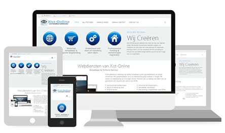Op alle devices een eigen website met Xist-Online.